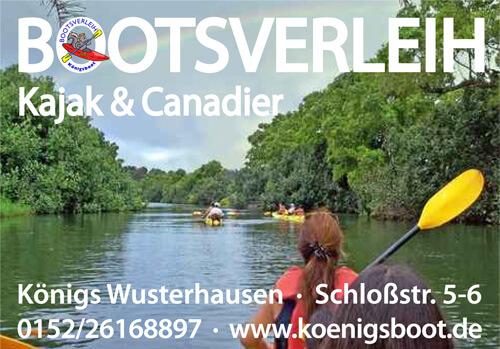 Bootsverleih Kajak & Canadier Königs Wusterhausen